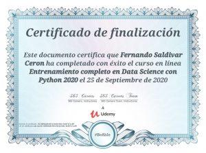 Entrenamiento completo en Data Science con Python 2020